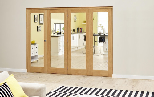 Glazed Oak Roomfold Deluxe - Clear