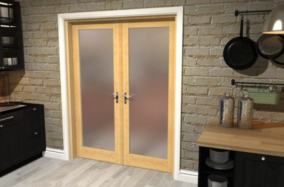 Obscure Oak French Door Set  - 30