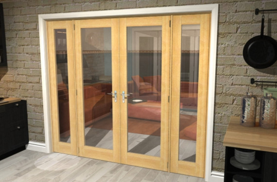 Oak Prefinished French Door Set  - 27