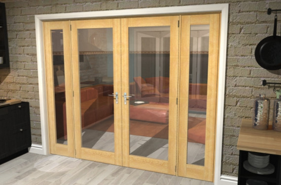 P10 Oak French Door Set - 30