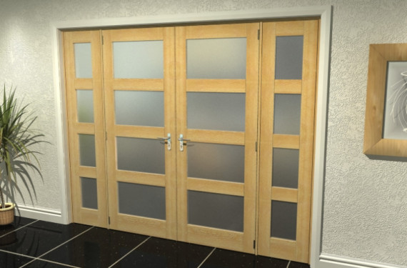 4l Frosted Oak French Door Set - 30
