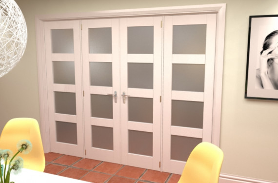 Obscure White French Door Set - 30