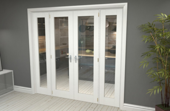 P10 White French Door Set  - 22.5