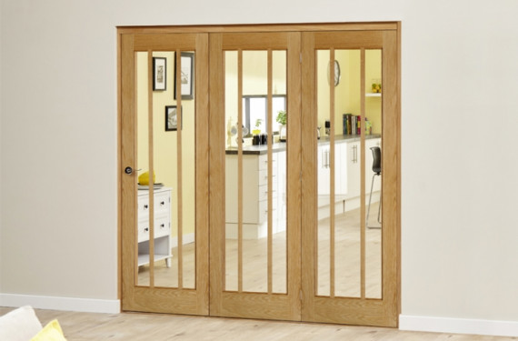 Lincoln Oak 3 Door Roomfold Deluxe (3 X 610mm Doors)