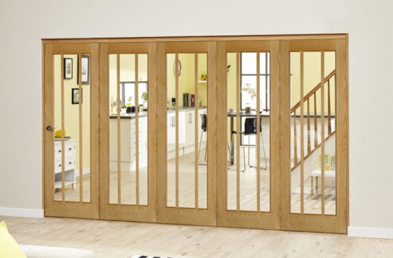 Lincoln Oak 5 Door Roomfold Deluxe (5 X 610mm Doors)