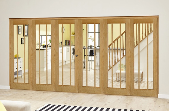 Lincoln Oak 6 Door Roomfold Deluxe (3 + 3 X 686mm Doors)