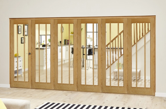 Lincoln Oak 6 Door Roomfold Deluxe (5 + 1 X 610mm Doors)