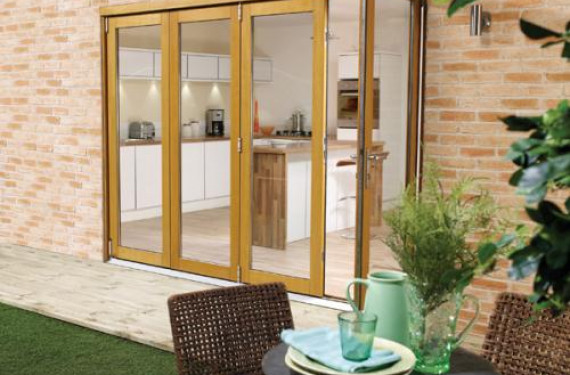 LPD Nuvu 3000mm (10ft) Oak Bifold Doors