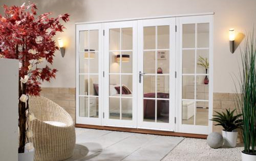 Softwood White French Doors 8 Lite