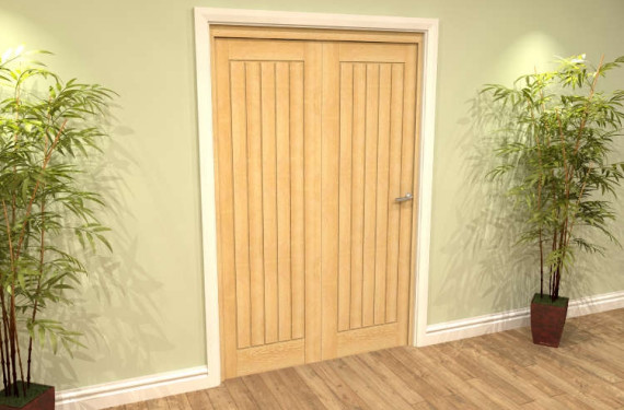 Mexicano Oak 2 Door Roomfold Grande (2 + 0 X 533mm Doors)