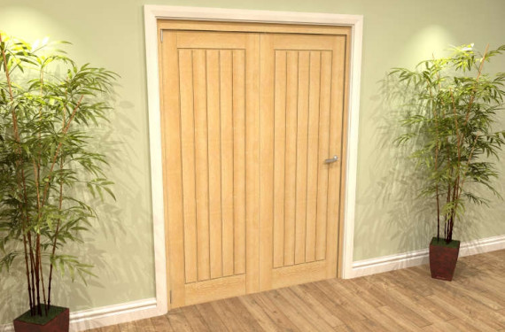 Mexicano Oak 2 Door Roomfold Grande (2 + 0 X 686mm Doors)