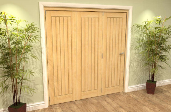 Mexicano Oak 3 Door Roomfold Grande (3 + 0 X 686mm Doors)
