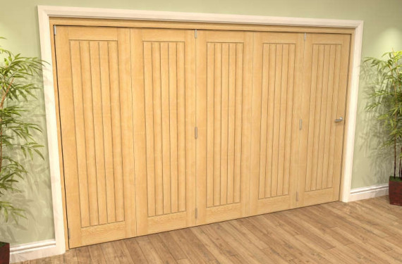 Mexicano Oak 5 Door Roomfold Grande (5 + 0 X 762mm Doors)