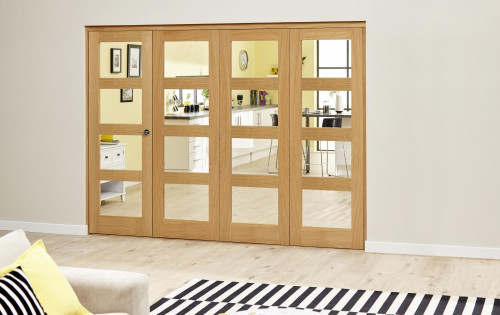 Oak 4l Roomfold Deluxe - Clear