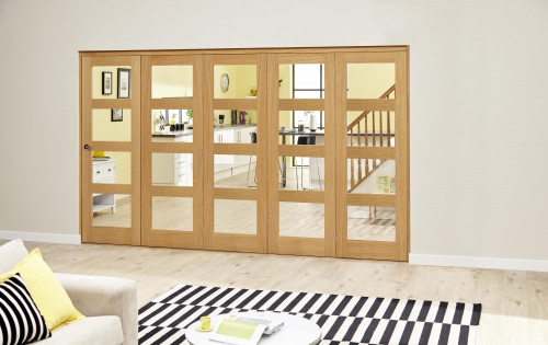 Oak 4l Roomfold Deluxe - Clear Prefinished