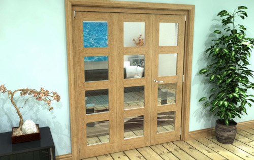 Oak 4l Roomfold Grande - Clear Prefinished