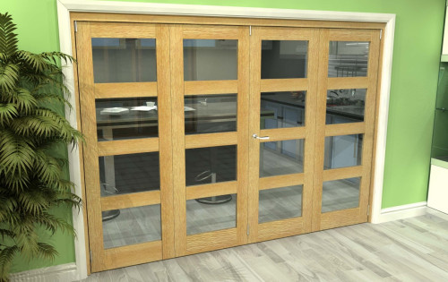 Oak 4l Roomfold Grande - Clear Unfinished