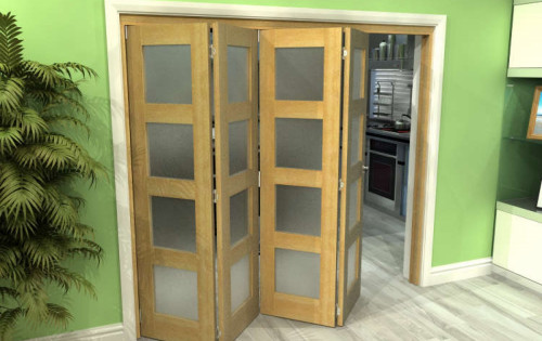 Oak 4l Roomfold Grande - Frosted Unfinished
