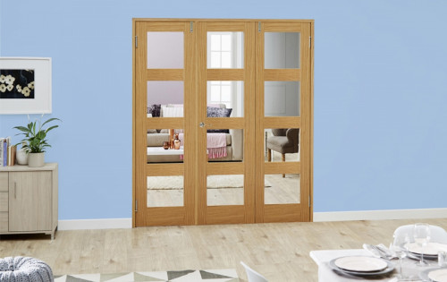 Oak 4l Shaker Frenchfold - Clear Unfinished