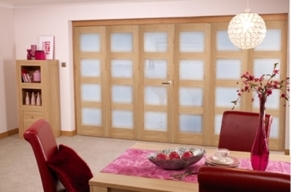 Oak Prefinished 4l Interior Bifold Door (6 Door 3+3 X 2'0