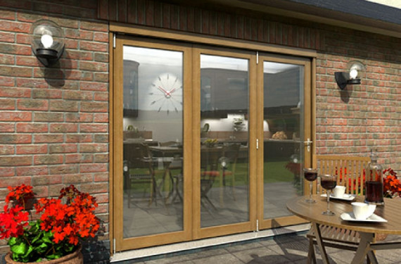 Part Q Solid Oak Bifold Door 2400mm (8ft)