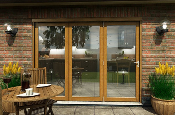 Part Q Solid Oak Bifold Door 2700mm (9ft)