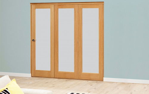 Porto Oak Glazed Roomfold Deluxe - Frosted