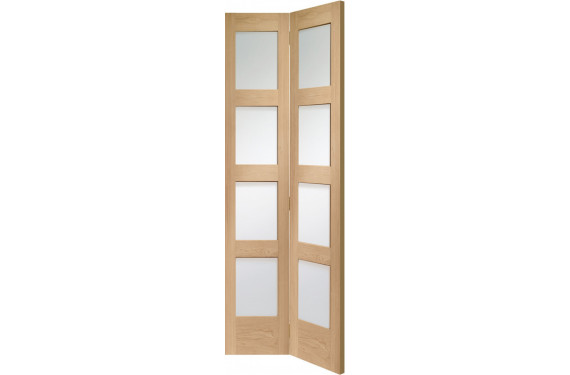 Shaker 4 Light Glazed Bifold Door