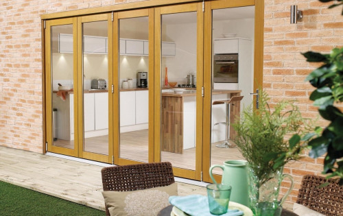 Supreme Solid Oak Bifold Doors - Part Q Compliant