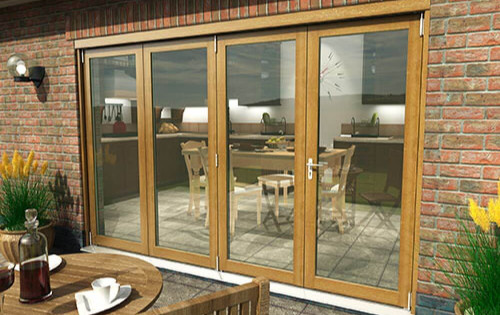 Supreme Solid Oak Bifolding Patio Doors - Climadoor