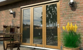 Climadoor Solid Oak Bifold Door 2100mm (7ft)  Image