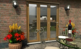 Climadoor Solid Oak Bifold Door 1800mm (6ft)  Image