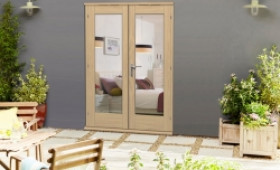 Elite 54mm oak french doors oak patio doors vibrant doors for 1500 french doors