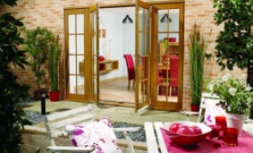2100mm (7ft) Fully Finished Oak 8 Lite  - 1500 Pair + 2 X 300mm Sidelights Image