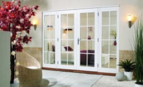 2100mm (7ft) Fully Finished White 8 Lite - 1500 Pair + 2 X 300mm Sidelights Image