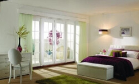 2400mm (8ft) Fully Finished White 8 Lite - 1500 Pair + 2 X 450mm Sidelights Image