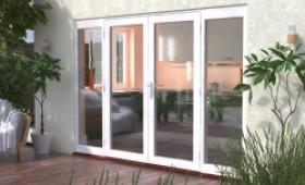 3000mm (10ft) Classic French Doors - 1800 Pair With 2 X 600mm Sidelights Image