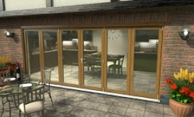 Climadoor Solid Oak Bifold Door 4800mm (16ft)  Image