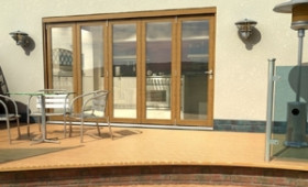 Climadoor Solid Oak Bifold Door 3600mm (12ft)  Image
