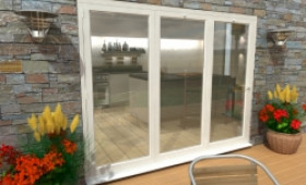 Climadoor White Aluminium Bi-folding Patio Doors  Image