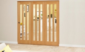Aston Oak - 3 Door Roomfold Deluxe (3 X 686mm Doors) Image