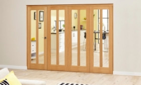Aston Oak - 4 Door Roomfold Deluxe (4 X 610mm Doors) Image