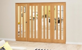 Aston Oak - 4 Door Roomfold Deluxe (4 X 686mm Doors) Image