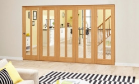 Aston Oak - 5 Door Roomfold Deluxe (5 X 610mm Doors) Image
