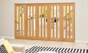 Aston Oak - 5 Door Roomfold Deluxe (5 X 686mm Doors) Image