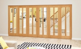Aston Oak - 6 Door Roomfold Deluxe (3 + 3 X 610mm Doors) Image