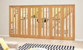 Aston Oak - 6 Door Roomfold Deluxe (3 + 3 X 686mm Doors) Image