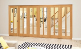 Aston Oak - 6 Door Roomfold Deluxe (5 + 1 X 610mm Doors) Image