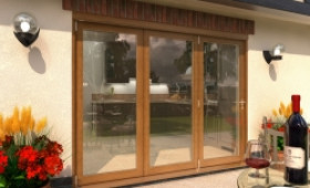 Climadoor Solid Oak Bifold Door 2700mm (9ft)  Image