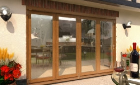 Climadoor Solid Oak Bifold Door 3000mm (10ft)  Image